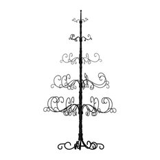 Patch Magic - 7Ft Wrought Iron Christmas Tree - Holiday Accents and Figurines