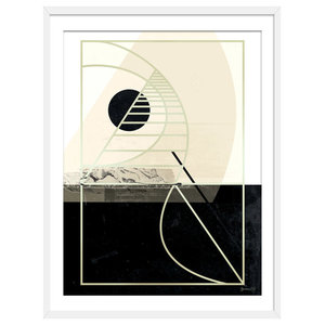 """""""Before Sundown"""" Abstract Art Print, White Framed, 30x40 cm"""