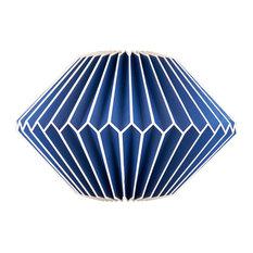 Paper Lamp Shade, Blue