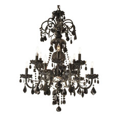 the gallery authentic all crystal chandelier jet black crystal chandeliers authentic black crystal