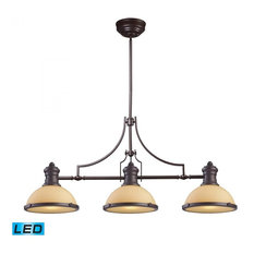 Elk Group International Lighting Chadwick 3 Light Led Billiard Oiled Bronze And