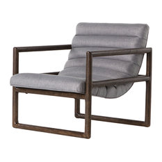 Fitz Lounge Chair, Axis Silver
