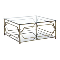 Edward Square Coffee Table Brass