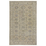 Capel Rugs - Caria Rectangle Hand Knotted Rug, Light Tan Olive, 8'x10' - Classic designs in fresh colors are featured in this collection.  Hand knotted in India of 100% Wool, the low pile gives the popular distressed look.