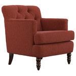 Madene Tufted Back Fabric Club Chair Traditional