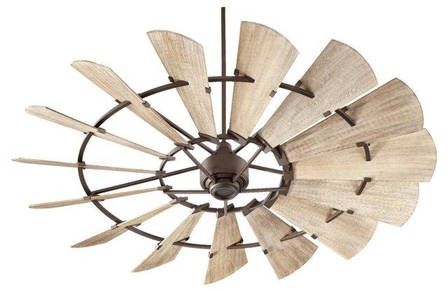 Quorum Windmill 60 Quot Fan Galvanized Farmhouse Ceiling