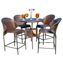 Patio Picks With Top Reviews. Contemporary Outdoor Pub And Bistro Sets By  GDFStudio