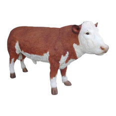 Bull Life Size Statue Large Over 9' Long & Over 5' High