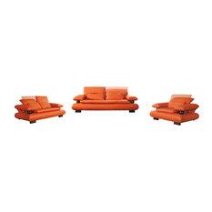 ESF Living Room Set, Orange