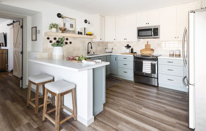 Kitchen of the Week: Soft and Creamy Palette With a New Layout