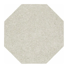 Solid Color Off White Area Rug, 10' Octagon
