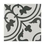 """SomerTile 9.75""""x9.75"""" Arte Porcelain Floor/Wall Tile, Case of 16, White"""
