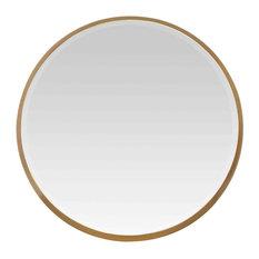 Gold Chunky Round Mirror, 55 cm