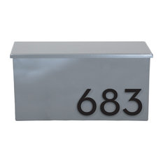 """The OG Wall Mounted Mailbox Plaque, 17""""W x 9""""H, Gray"""