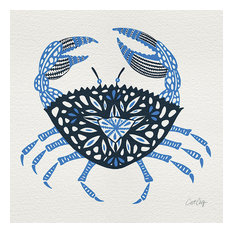 """""""Crab"""" Printed Canvas by Cat Coquillette, 40x40 cm"""