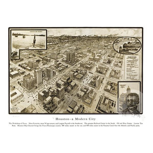MD 1912 Historic Panoramic Town Map Baltimore 24x36