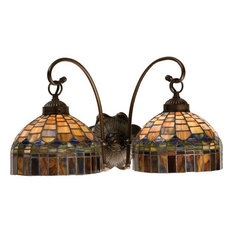 Stained Glass Bathroom Vanity Lights stained glass bathroom vanity lights   houzz