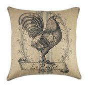 Le Poulet Burlap Pillow