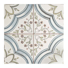 "SomerTile 17.63""x17.63"" Almeria Ceramic Floor and Wall Tile, Set of 5"