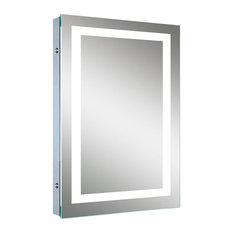 "MOD - Luna Bathroom Mirror With LED Border and Defogger, 20"" - Bathroom Mirrors"
