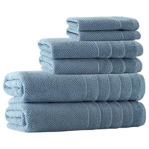 Veta 6-Piece Towel Set, Denim