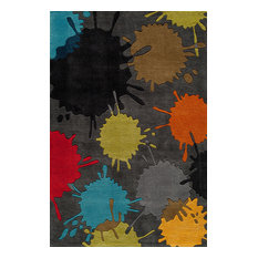 Lil Mo Hipster Polyester, Hand-Tufted Rug, Gray, 2'x3'