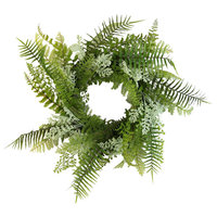 Admired By Nature Fern Wreath Artificial Wall Hanging Front Door, Green