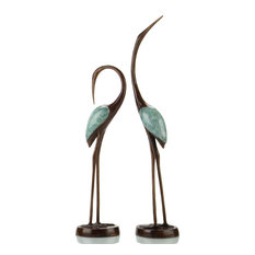 Crane Song Pair Sculpture