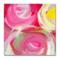 'Rose Garden Circles Square 4' Canvas Art, 14x14