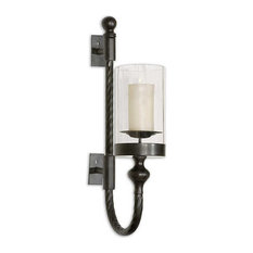Garvin Twist Sconce With Candle by Uttermost
