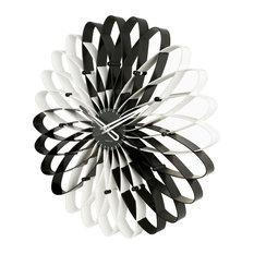 - Karlsson Spirograph черно-белые, Ø 50 см - Настенные часы