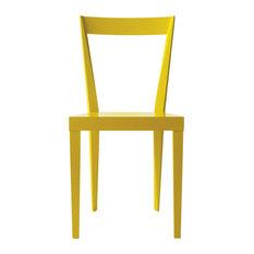 Livia Chairs, Glossy Light Yellow, Set of 2