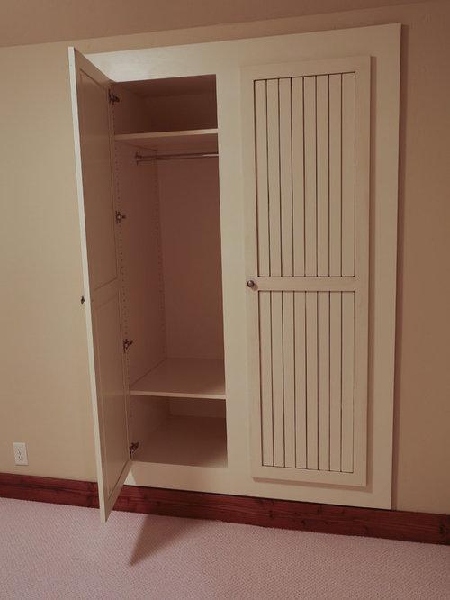 armoires et dressings campagne avec un placard porte affleurante photos et id es d co d. Black Bedroom Furniture Sets. Home Design Ideas
