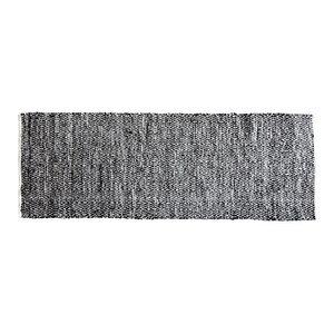 Elisa Small Diamond Leather Rug, 140x200 cm