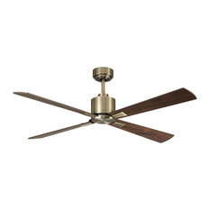 Lucci Airfusion Climate I Ceiling Fan With Remote, Antique Brass