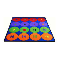 """Sitting Circles (16) #2012 6'6""""x8'4"""" Children's Educational and Play Rug"""