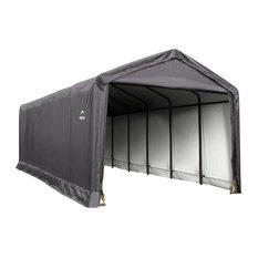 12'x30'x11' ShelterTube Storage Shelter, Gray Cover