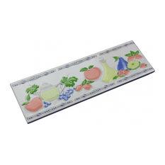 """3"""" x 10"""" Listello Tile Border Liner Summer Fruit Ceramic"""
