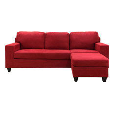 Acme Vogue Modern Reversible Chaise Sectional Red