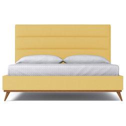 Great Midcentury Platform Beds Cooper Upholstered Bed from Kyle Schuneman LEMONADE Lemonade Queen