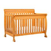 Kalani 4-In-1 Convertible Crib, Honey Oak Finish