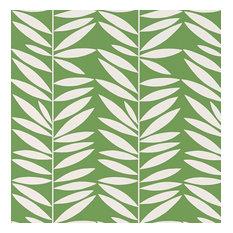 Schumacher Leaf Stripe Printed Wallpaper, Leaf, Double Roll
