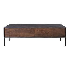 Industrial Midnight Mango Wood Iron 60 Coffee Table W