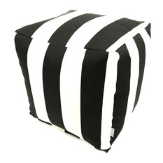 Outdoor Black Vertical Stripe Small Cube