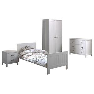 Lewis 4-Piece Room Set With 2-Door Wardrobe