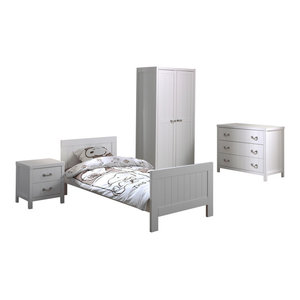 Lewis 4-Piece Room Set With 2-Door Wardrobe