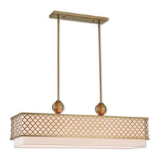 Livex Lighting Arabesque Light Linear Chandelier, Soft Gold