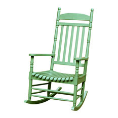 concepts porch rocker turned post solid wood moss outdoor rocking