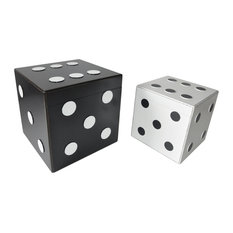 Set Of 2 Wooden Dice Trunk