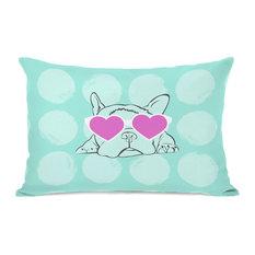"""Puppy Love"" Indoor Throw Pillow by OneBellaCasa, 14""x20"""
